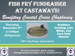 Coastal Crisis Chaplaincy - Fish Fry Flyer
