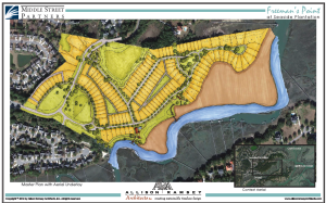 A 160-unit residential development, titled Freeman's Point, is planned for this vacant 41-acre tract in Seaside Plantation