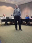 Developer Michael Clements at last week's meeting of the City's Planning Commission