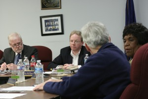 JIPSD Chairman David Engelman (left) joined Rod Welch (second from right), along with a pair of fellow Commissioners shot down a proposal to offer a financial report on the body's expenditures on a monthly basis. The group ultimately voted to publish them quarterly