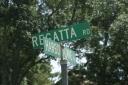 Harbortowne and Regatta Rd sign